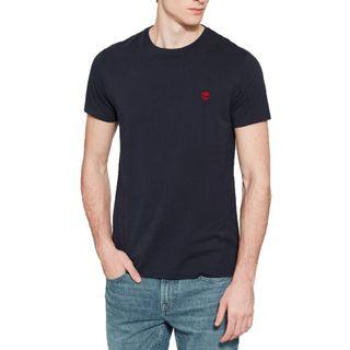 Timberland Small Logo Tee in Navy Blue