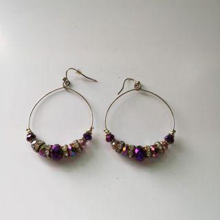 🚚 Earwire Round Dangling Earrings