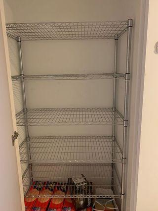 Wire shelves, 45cm x 90cm x 180cm, further sizes included