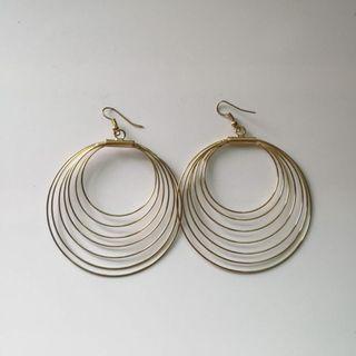 Earwire Gold Dangling Earrings