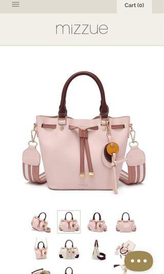 🚚 Mizzue pink crossbody bag