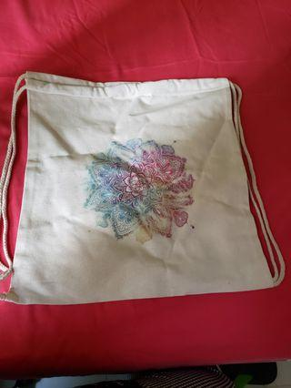 Cloth string bag with a beautiful print design