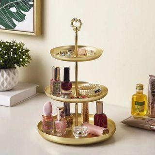 Gold Jewelry/accessories/cosmetic holder/box