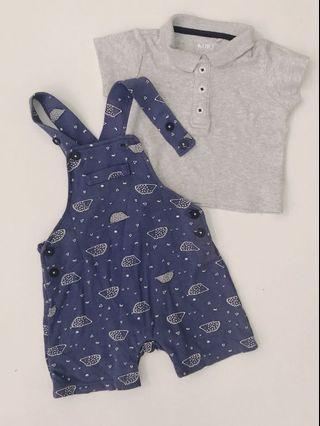 Miki Baby Overall set