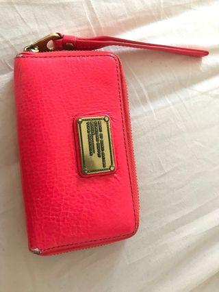 Red pink Marc Jacobs Wristlet