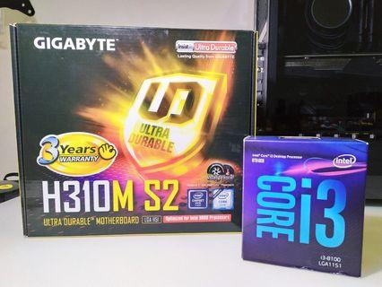 I3 8100 + H310M S2 (Processor + Mobo package)