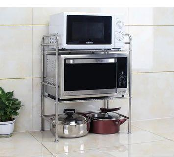 廚房加厚 三層 不鏽鋼微波爐烤爐電飯煲可放廚具置物架
