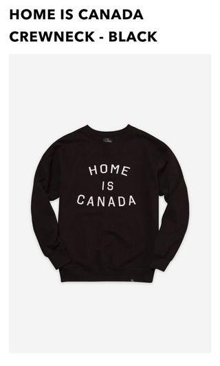 BNWT Home is Canada crewneck peacecollective