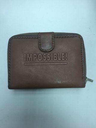 (P23) Impossible 全新真皮銀包 母親節 父親節禮物