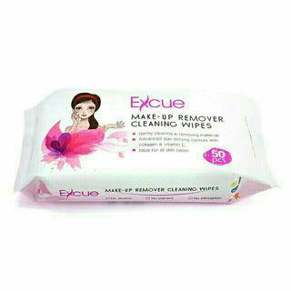 Excue Make Up Removal Cleaning Wipes (50pcs)
