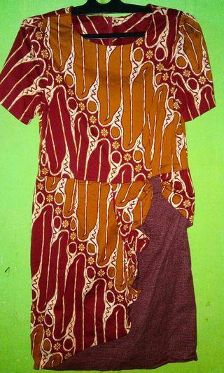 Dress Batik katun streach / melar