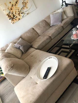 L shaped couch. Sectional