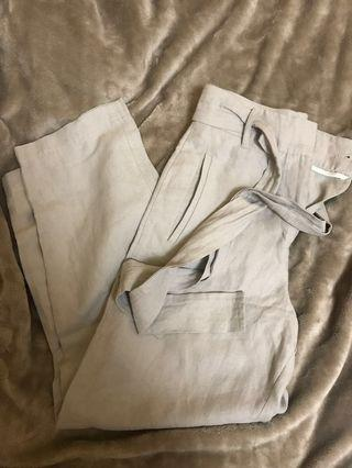 Aritzia wilfred tie-front pant