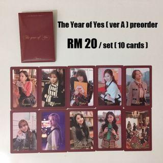The Year of Yes (ver A) preorder cards Twice TYOY