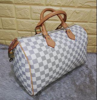 13340bbaea3a Preloved Louis Vuitton Speedy 35 Damier Azur