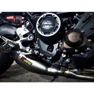 MT-09 ABS TRACER XSR900 AKRAPOVIC EXHAUST FULL SYSTEM