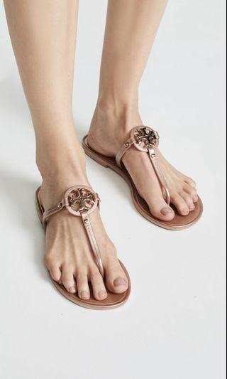 aecd417c0 Tory Burch Mini Miller Flat Thong Sandals - Rose Gold
