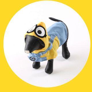 購自日本 迷你兵團狗狗頭套連身衫,超得意,每件$25,限定商品