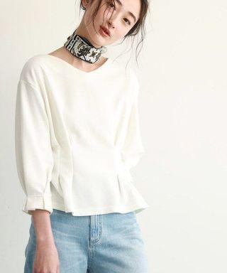 ✨NEW!氣質~日本19 束腰v領精緻摺袖上衣 衫