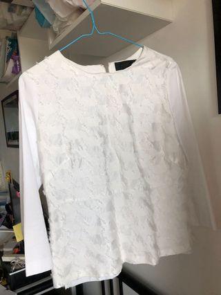 Elegant white top