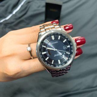 🚚 Citizen 星辰 世界城市電波光動能腕錶大錶面 43mm