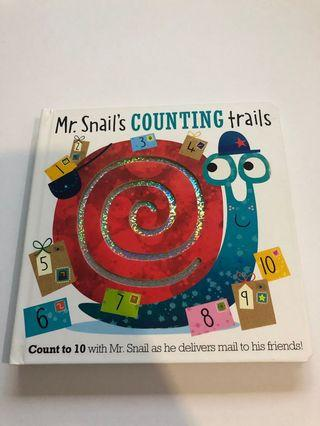 English: Mr Snail's Counting Trails