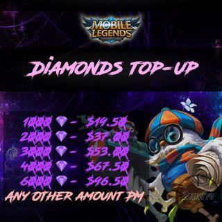 🚚 Mobile Legends Diamond Top-Up MLBB Legend Diamonds