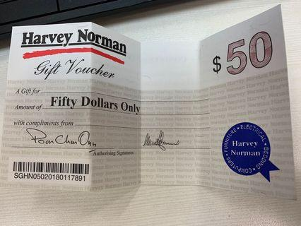 🚚 Harvey Norman $50x2 voucher
