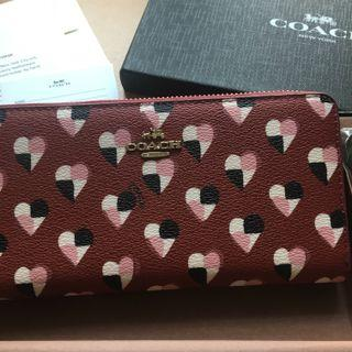 🌟Coach NWT Wallet With Checkered Heart Print F25963 ❤️