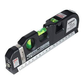 (2579) Semlos Multipurpose Laser Level Measuring Tape Standard and Metric Tape Ruler (8ft/2.5M)