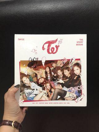 Twice The story begin album with sign