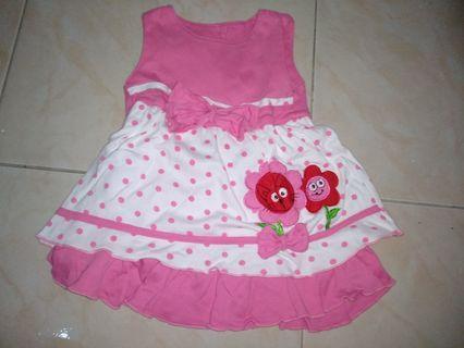 Dress Baby 9-12 bulan