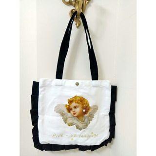 <現貨限量1>🔺歐洲小天使文藝典雅帆布手提袋🔸書包🔸背包🔸A4可放