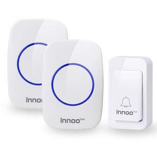 (2583) Innoo Tech Door Bell Wireless Plug in, Waterproof Door Chime with 2 Receivers, 500 Feet Electric Doorbell, White