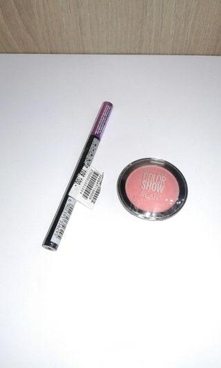 Maybelline hypersharp wing (new) & blush