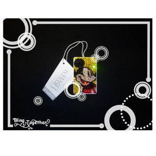 米奇老鼠 Mickey Mouse 迷你八達通Bling Bling Swarovski施華洛水晶閃石匙扣
