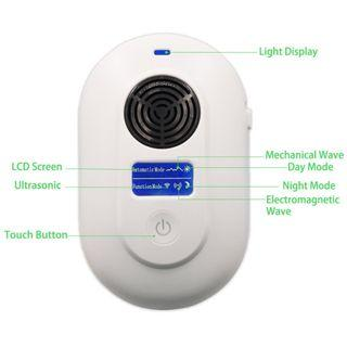(2585) Ultrasonic Pest Repeller – BOOCOSA Two-Mode Pest Control Device with 8 Waves Synthetic for Indoor Pest / Insect / Roden - Intelligent Light Drive Against Mice