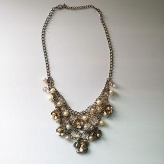 Statement Necklace with Pearls