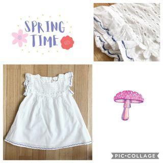 White fly sleeves dress
