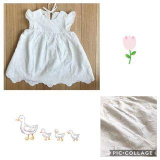 Vintage white eyelet dress
