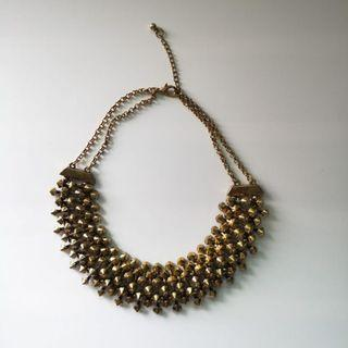 Stud Necklace   Gold