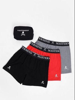 Mastermind World Three Pack Multicolor Logo Boxer Briefs