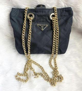100% authentic prada chain bag