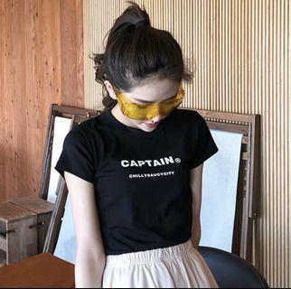 Instock Black Captain Shirt