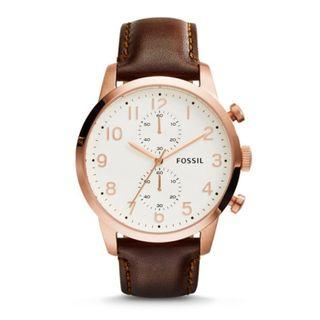 {{ WEEKEND SALES }} Fossil Townsman Chronograph Brown Leather Watch
