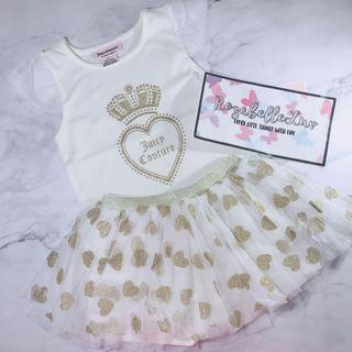 Juicy couture gold skorts sets
