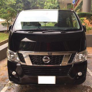 NISSAN NV350 2.5L 2018 MANUAL DIESEL, Van for rent, Van rental, Commercial Van @ Hillview MRT