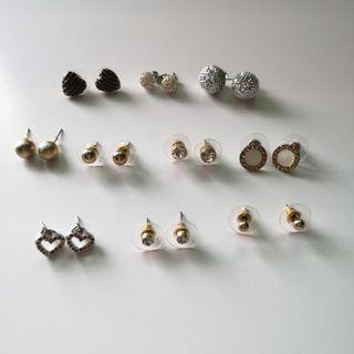 Set of Assorted Stud Earrings