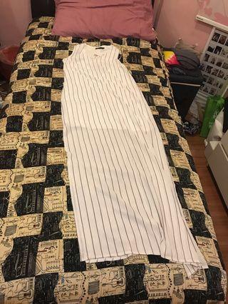 Striped Maxi Dress #APR75