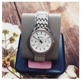 {{ WEEKEND SALES }} Fossil Ladies' White Tailor Stainless Steel Watch